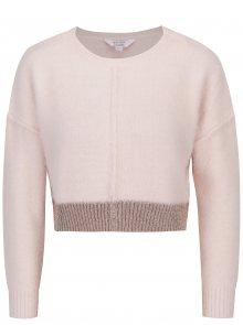 Světle růžový crop svetr Miss Selfridge Petites