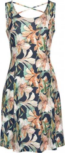 LASCANA Plážové šaty námořnická modř / pastelově zelená / růžová
