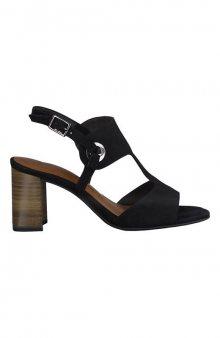 Semišové sandály / černá