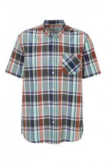 Košile / zelená/rezavá/kostkovaný vzor