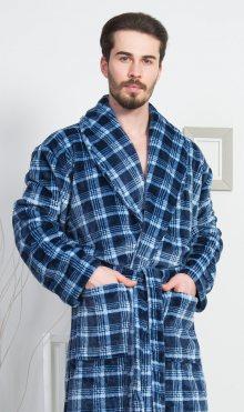 Pánský župan se šálovým límcem Ondřej modrá 1XL