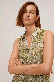 MANGO Letní šaty \'Casca\' khaki / béžová