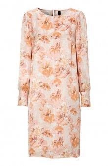 Šaty se vzorem Eloise / mat. růžová/květovaná