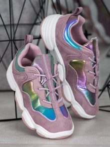 Designové  tenisky fialové dámské bez podpatku 36
