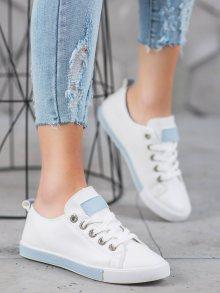 Trendy  tenisky dámské bílé bez podpatku 37