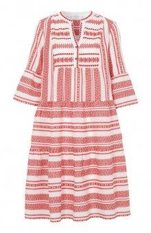 Šaty Vermunda / smetanová/červená