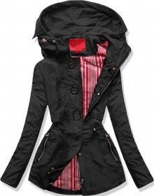 Krátká černá bunda typu parka (P01) černá S (36)