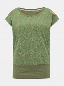 Zelené dámské květované tričko killtec Vaiva
