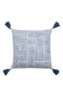 Povlak na polštář Carita se vzorem / modrá