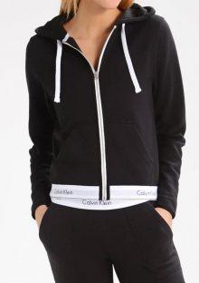Dámská mikina s kapucí Calvin Klein QS5667E M Černá