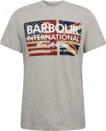 Barbour International Tričko šedá / červená / modrá