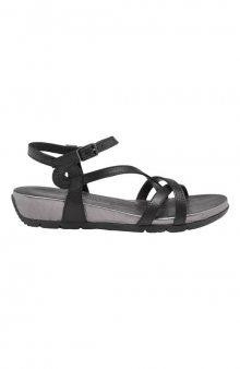 Kožené sandály / černá