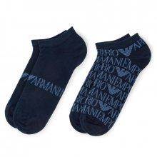 Sada 2 párů nízkých ponožek unisex Emporio Armani
