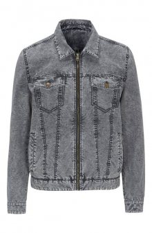 Džínová bunda / šedočerná
