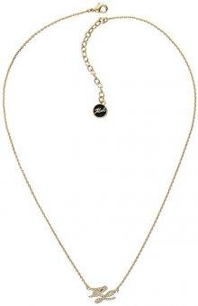 Karl Lagerfeld Pozlacený náhrdelník s třpytivými krystaly KL Script Logo 5512209