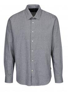 Černo-krémová vzorovaná tailored fit košile Barbour Sween