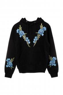 Mikina s kapucí Blue Roses s nášivkou