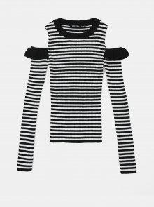 Černo-bílé holčičí pruhované tričko Blue Seven