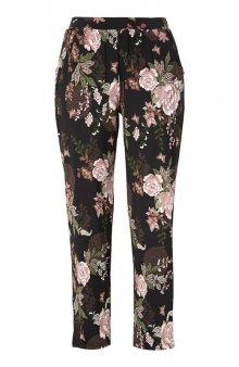 Úpletové kalhoty se vzorem Hazel / černá/se vzorem