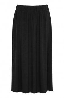 Úpletová sukně z krásně splývavého materiálu / černá/se vzorem