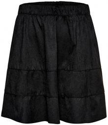 ONLY Dámská sukně ONLCARMA FAUX SUEDE SKIRT OTW NOOS Black XS