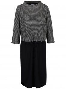 Černo-bílé šaty s pruhovaným topem Gina Laura