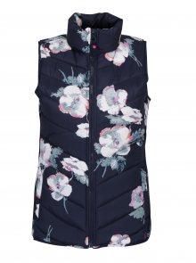 Tmavě modrá dámská květovaná vesta Tom Joule Highgrove