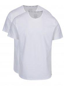 Sada dvou pánských bílých basic slim fit triček pod košili Calvin Klein