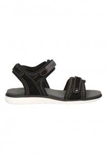 Sandály s nastavitelnými pásky / černá