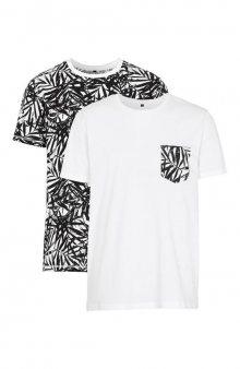 Tričko 2 Pack / bílá+se vzorem