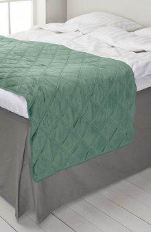 Přehoz na postel / mat. zelená