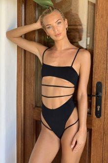 Hugz Plavky Malibu Cut Out Swimsuit Black L