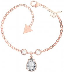 Guess Růžově pozlacený náramek s krystaly UBB29094-S