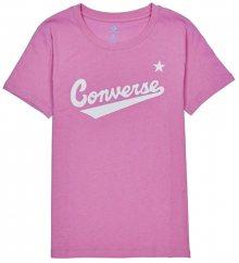 Converse Dámské triko Converse W Womens Nova C.Front Logo Tee Peony Pink S