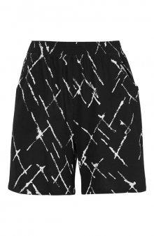 Úpletové šortky se vzorem 2 Pack / černá/bílá+černá