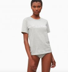 Calvin Klein Logo Dámské Tričko Šedé M