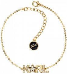 Karl Lagerfeld Pozlacený náramek Bold Star Logo 5483573