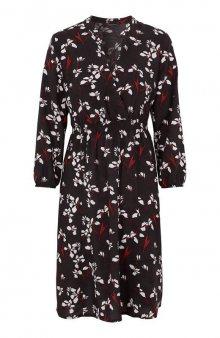 Šaty Astrid / černá/se vzorem