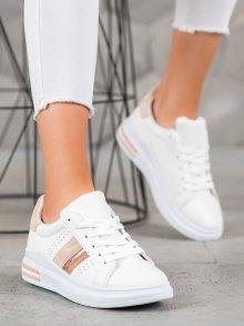 Originální bílé  tenisky dámské bez podpatku 36
