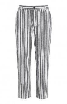 Proužkované lněné kalhoty / proužky