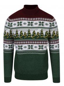 Zelený rolák s vánočním motivem Burton Menswear London