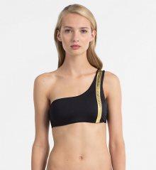 Calvin Klein Plavky One Shoulder Black&Gold Vrchní Díl M