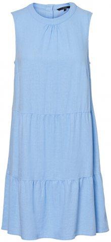 Vero Moda Dámské šaty VMHELENMILO SL SHORT DRESS WVN Placid Blue M