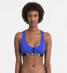 Calvin Klein Plavky Zip Intense Power Modré Vrchní Díl M