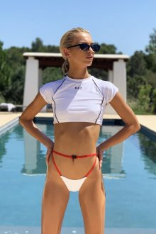 Hugz Plavky Tokyo T-Shirt Bikini White M