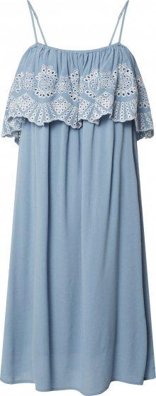 VILA Letní šaty modrá / bílá