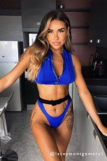Hugz Plavky Tokyo Buckle-Zip Bikini Blue M