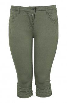 Kalhoty capri Stomp / khaki