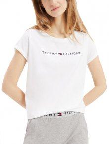 Tommy Hilfiger Dámské triko Tommy Original Rn Tee Ss Logo UW0UW01618-100 White M