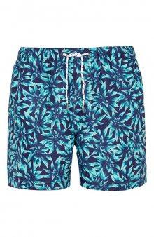 Šortkové plavky / zelená/se vzorem